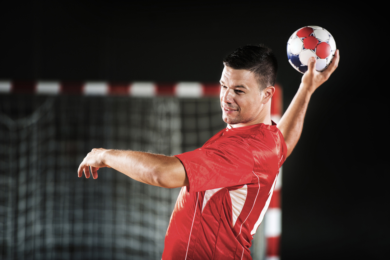 Male handball player.